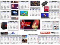 Amiga WARP calendar 2019