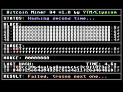 Bitcoin Miner - C64