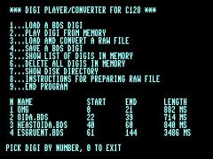 C128 Basic Digi Player - C128
