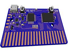 C64 cartridge: 128KB Ram 4MB Flash