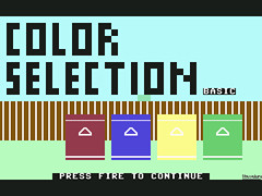 Color Selection Basic - C64