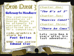 Geo's Quest 3, Gateway to Nowhere - Amiga