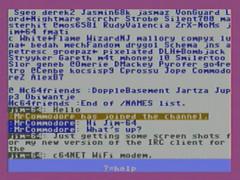 IRC Client - C64Net WiFi Modem