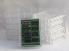Transparent C64 cartridge cases