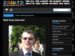 Matt Gray interview - Retrogamesmaster